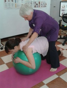 Cecelia Koester at a Brain Gym workshop