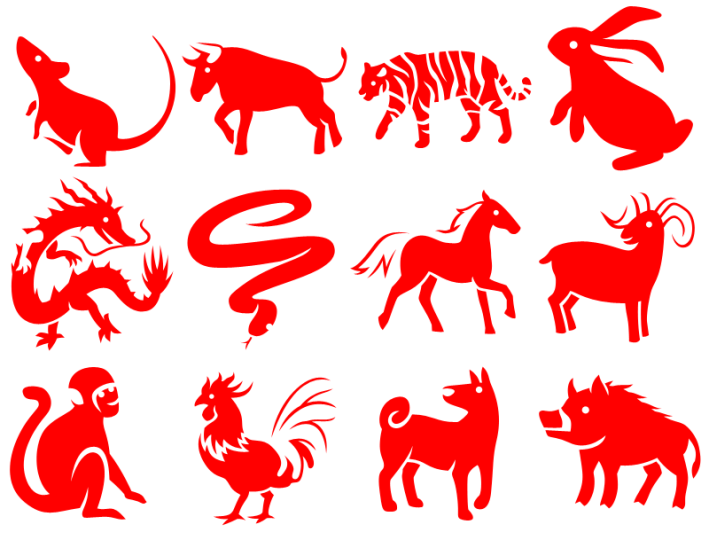 Chinese-Zodiac-12-Animals-in-red