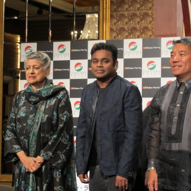 From left: Yasmeen Lari, A.R. Rahman and Dr Ambeth R. Ocampo