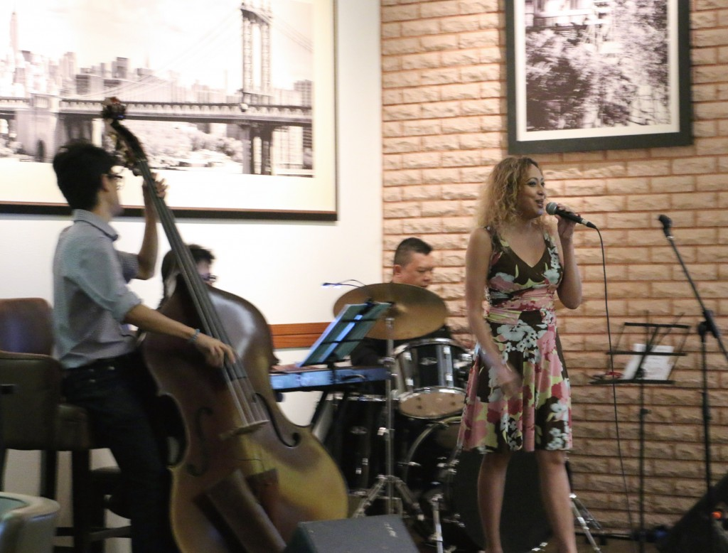 Karen Nunis & Friends jazzing up Arthur's on Friday. It's different band each week