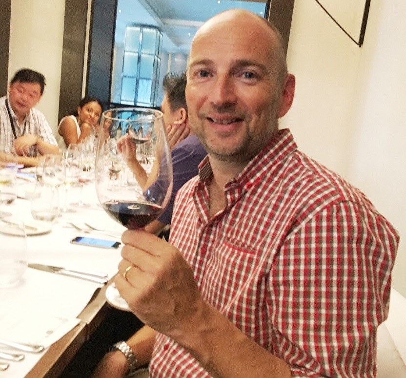Winemaker Stuart Rusted led the tasting of premium wines -- Beringer Vineyards, Beaulieu Vineyard, Sterling and Stags' Leap