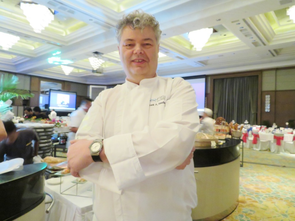 Chef Frank Naesheim who orchestrated the Norwegian Seafood Gala Dinner, leading his team of chefs and dealing with 1.2 tonnes of seafood from Norway for the dinner