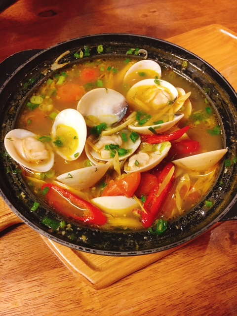 Clams in Coconut Broth -- hot, sweet and sour