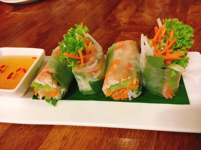 Fresh Spring Roll with Tiger Prawns