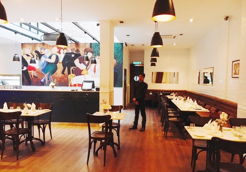 The interior of 2OX French Bistro