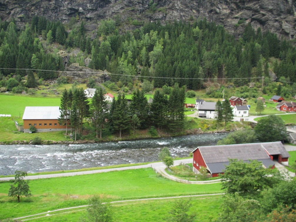 So pretty, a view from the window of the Flam Railway