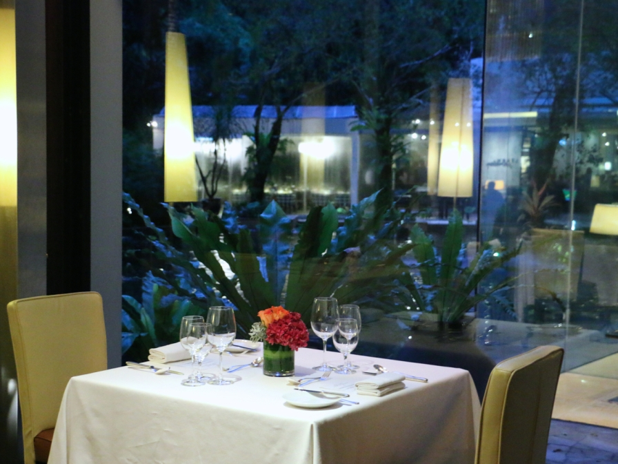 A romantic setting for dinner at Lafite