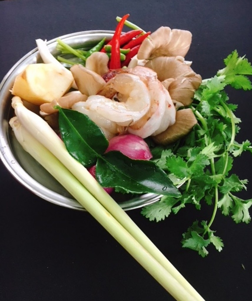 Ingredients for the Tom Yum Goong