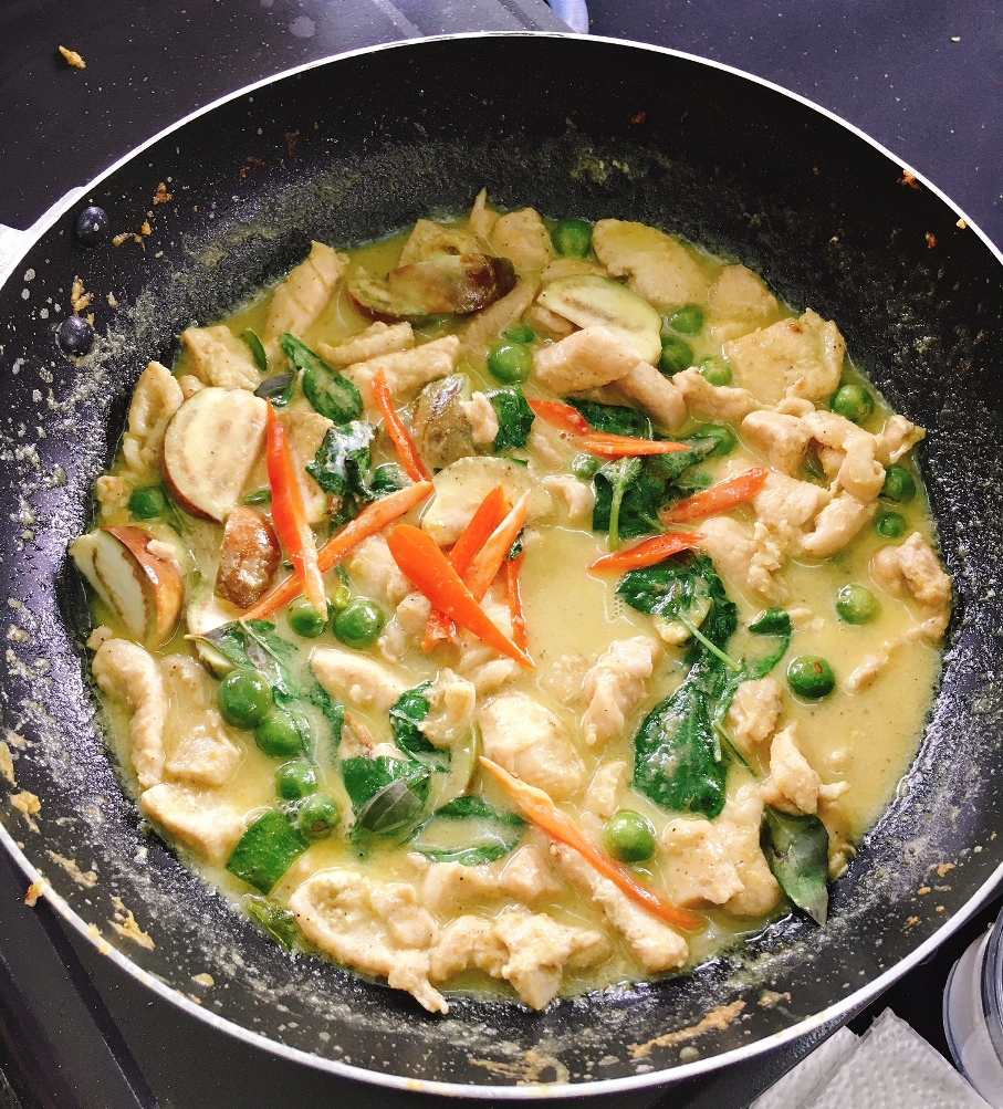 Our Green Curry Chicken -- Chef said it has a nice colour and liked the taste