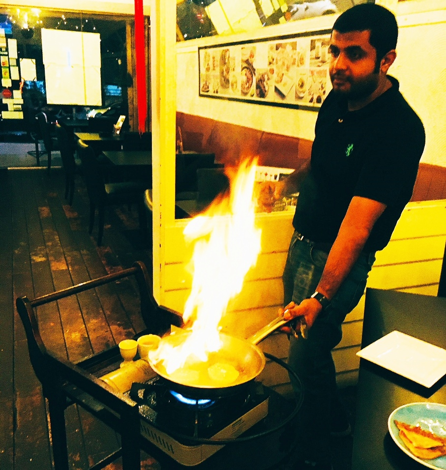Flaming moment with Crepe Suzette