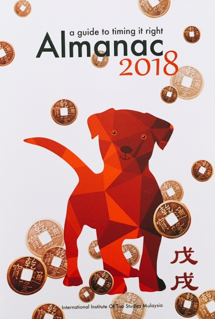 The Almanac for Year of the Dog. It's a useful calendar guide if you need a good date for main events