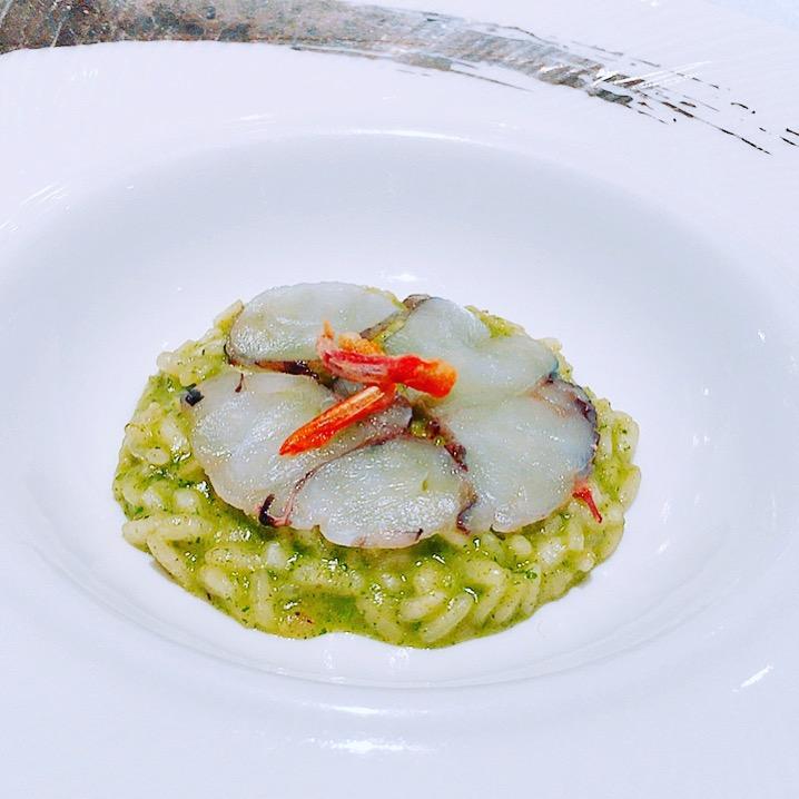 Arroz Verde -- Carabinero Shrimp, Arborio Rice and Spinach