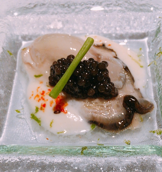 Slurp and savour Oyster Caviar and Cauliflower, and a little Japanese spices