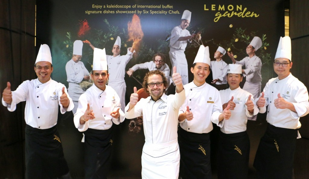 Six Chefs live it up with their speciality dishes at Lemon Garden Cafe