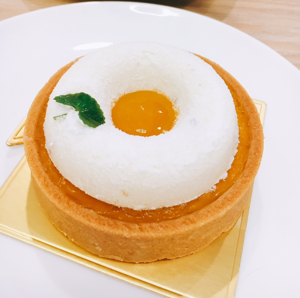 Passionfruit & Miso Tart (RM15). A climactic play of sweet, salty and sour