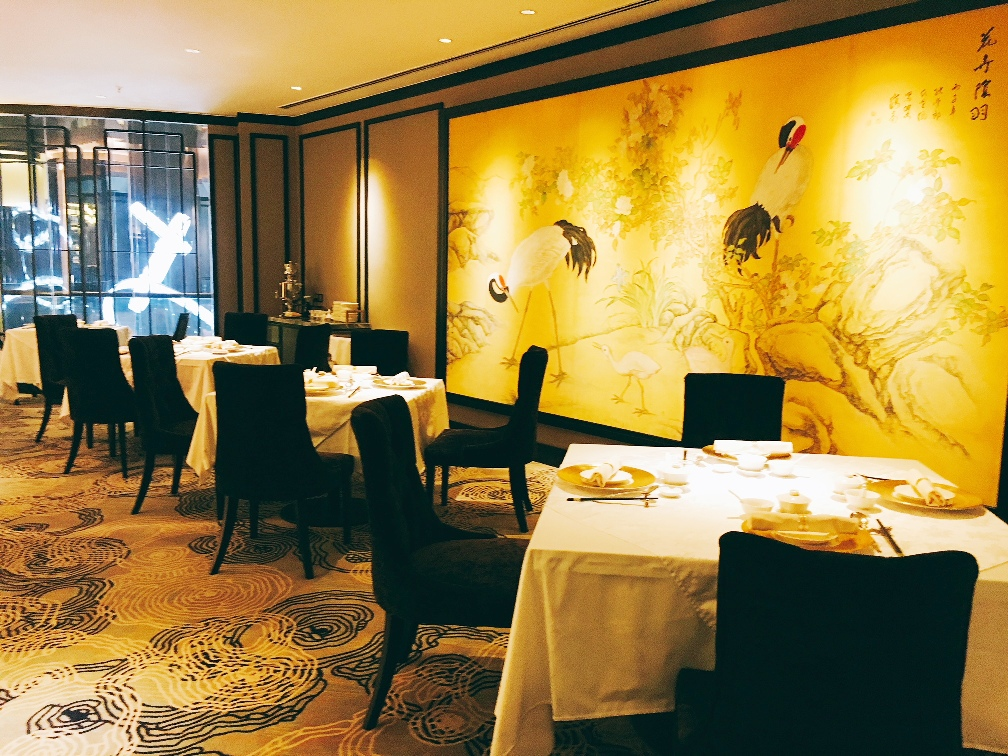 The elegant  interior of the newly refurbished Shanghai