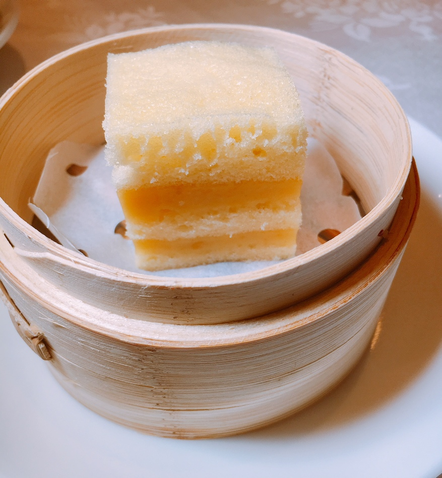 Steamed Shanghainese Layer Cake with Custard and Salted Egg Yolk