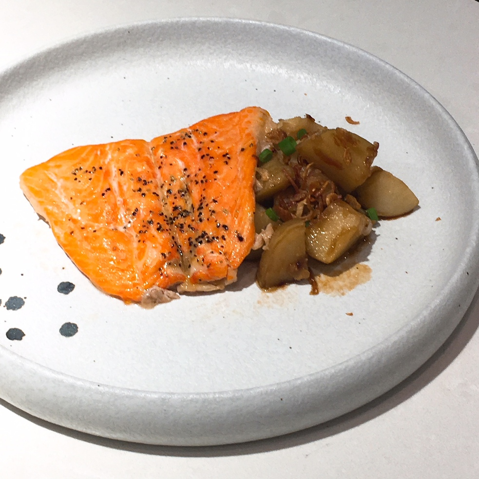 Seared Norwegian Fjord Trout with Potato Salad