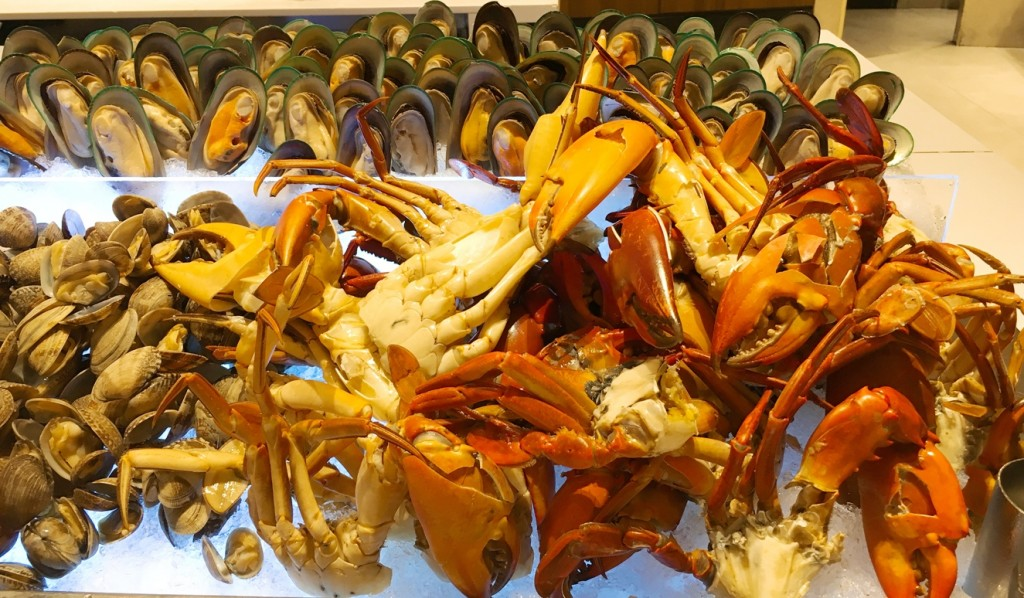 The pick of crabs, clams and mussels