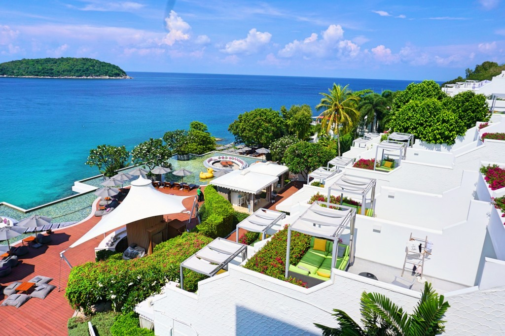 A top view of the resort in Phuket