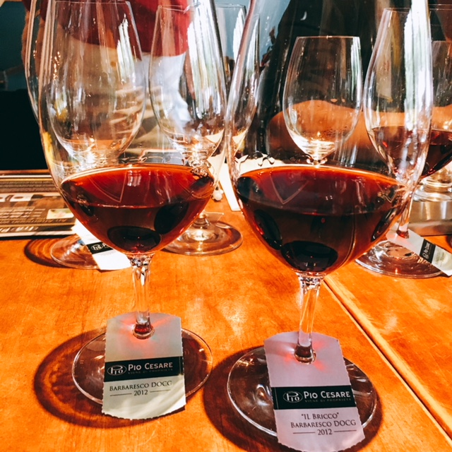 The two Pio Cesare Barbaresco we tasted