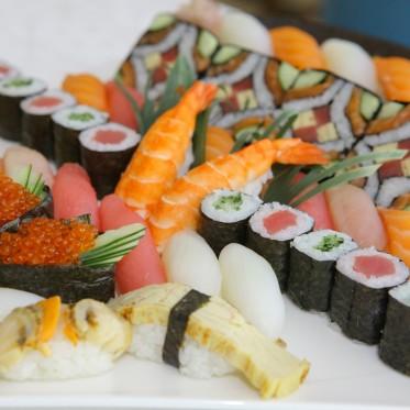 A closeup of Chef Chua's Edomae Sushi