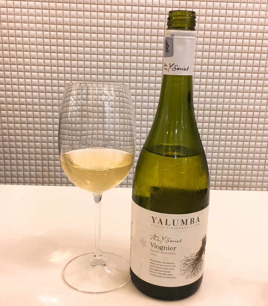 Yalumba Y Series Voignier goes so well with the prawns and other dishes here